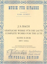 Complete Works for the Lute - Suite E-dur BWV 1006a