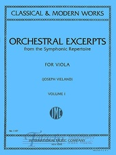 Orchestral Excerpts from the Symfonic Repertoire Vol. 1 (Viola)