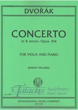 Concerto in B minor, op. 104 for viola and piano