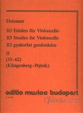 113 Studies for Violoncello 2 (no. 35-62)