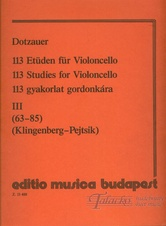 113 Studies for Violoncello 3 (no. 63-85)