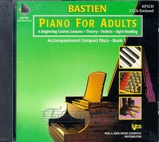 Bastien Piano For Adults: Accompaniment CDs for Book 1