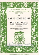 Sonata nona sopra l´aria del tenor di Napoli for two soprano instruments and continuo