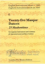 Twenty-five Masque dances for soprano instrument and continuo