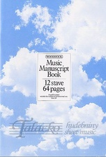 Music Manuscript Book - 12 stave, 64 pages