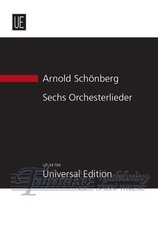 6 Orchestral Songs for voice and orchestra op. 8