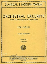 Orchestral Excerpts from the Symfonic Repertoire Vol. 2 (Violin)