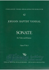 Sonate for Viola and piano Opus 5 Nr.3