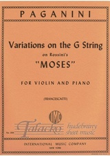"Variations on the G string on Rossini´s ""Moses"""