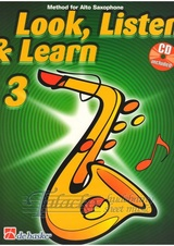Look, Listen & Learn 3 - Alto Saxophone + CD