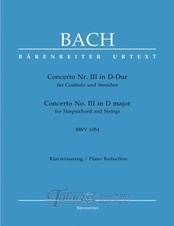 Concerto 3 in D major BWV 1054