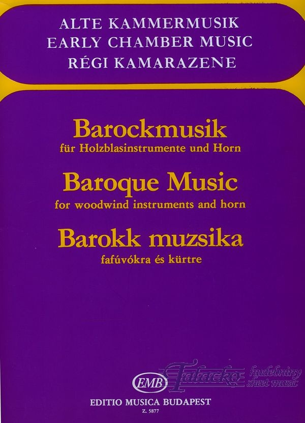 Baroque Music for woodwind instruments and horn