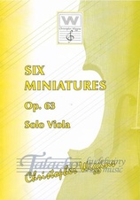 Six miniatures op.63 (viola)