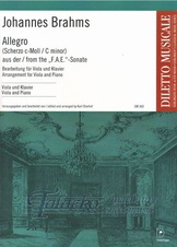 "Allegro (Scherzo C minor) from the ""F.A.E."" - Sonate"