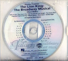 Lion King: The Broadway Musical (Choral Medley) - Show Trax CD