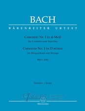 Concerto for Harpsichord and Strings no. 1 in D minor BWV 1052 (score)