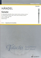 Sonate for Treble Recorder, Violin and Basso continuo, F major op.2/4, HWV 389