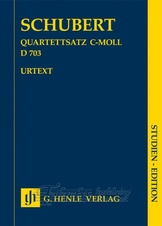 String Quartet movement in c-moll D 703