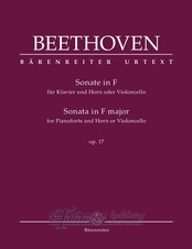 Sonata for Pianoforte and Horn or Violoncello in F major op. 17
