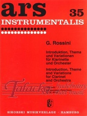 Introduktion, Theme and Variations for clarinet and orchestra