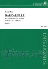 Barcarolle for Violoncello and Piano op. 81
