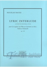 Lyric Interlude (Study in Pastoral Style) op. 110