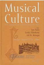 Musical Culture of the Bohemian Lands and Central Europe before 1620