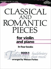 Classical and Romantic Pieces for Violin Book 4