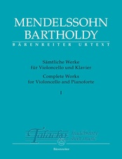 Complete Works for Violoncello and Pianoforte I