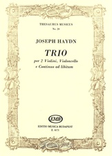 Trio for two violins, violoncello and continuo ad. lib., Hob. V: G1