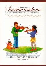 Baerenreiter's Sassmannshaus - Early Start on the Viola, Volume 3