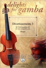 Divertissements 3 for viola gamba solo