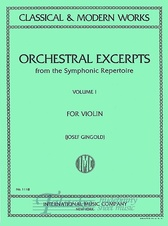 Orchestral Excerpts from the Symfonic Repertoire Vol. 1 (Violin)