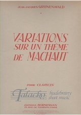 Variations sur un theme de Machaud