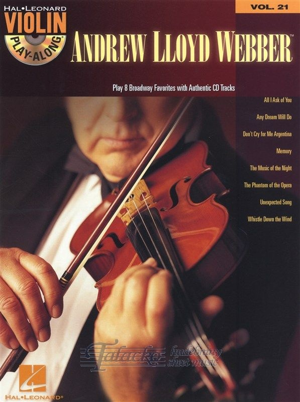 Violin Play-Along Volume 21: Andrew Lloyd Webber + CD