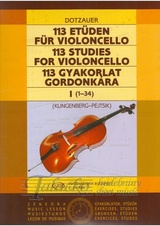 113 Studies for Violoncello 1 (no. 1-34)