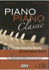 Piano Piano Classic (Mittelschwer) 100 Great Classical Melodies + 3CD
