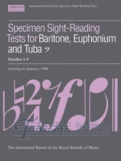 Specimen Sight-Reading Tests for Baritone, Euphonium and Tuba, Bass clef Gr. 1-5