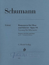 Romances for Oboe (or Violin or Clarinet) and Piano op. 94: version for Clarinet