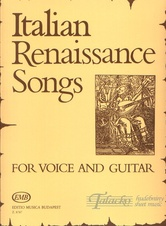 Italian Renaissance Songs for Voice and Guitar