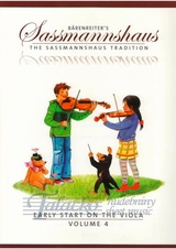 Baerenreiter's Sassmannshaus - Early Start on the Viola, Volume 4