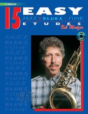 15 Easy Jazz Blues And Funk Etudes - Tenor Sax + CD