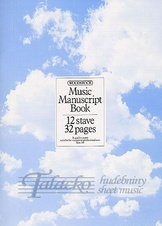Music Manuscript Book - 12 stave, 32 pages