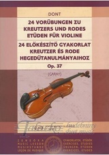24 Preliminary Studies to Etudes by Kreutzer and Rode op. 37